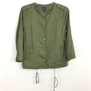 Market & Spruce army green jacket Med stitch fix